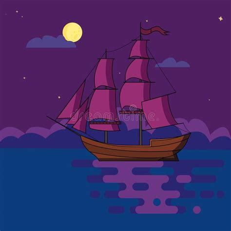 Schooner under sail stock vector. Illustration of vessel ...