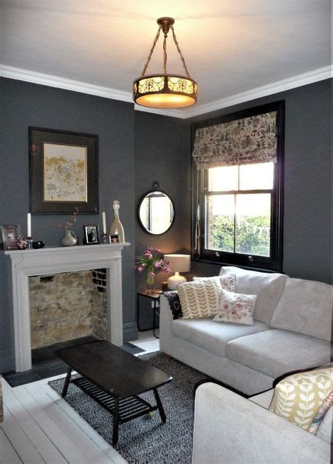 valspar empirical grey   snug room victorian