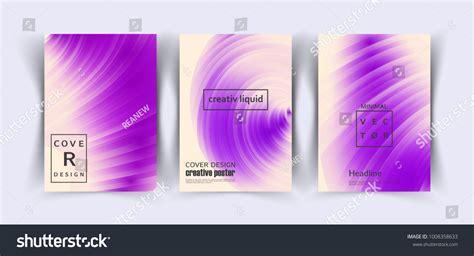 Ultraviolet trendy cover design template Vector liquid