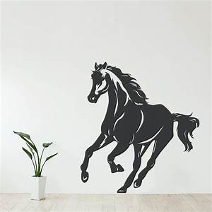 Galloping horse wall decal for Horse wall decals