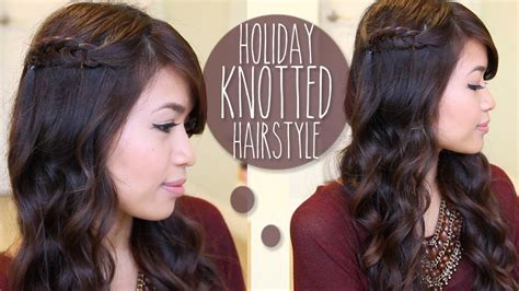 Hairstyle For Hair by Knotted Hairstyle For Medium Hair Tutorial
