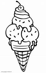 Ice Cream Coloring Pages Printable Summer Drawing Colouring Para Colorear Template Helados Dibujos Truck Sheets Dibujo Helado Pdf Clipartmag Faciles sketch template