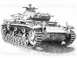 German WW2 Panzer III Tank – Men's T-shirt – Dawn Monks ...