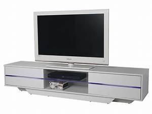 Meuble TV BLUES Coloris Blanc Vente De Meuble Tv Conforama