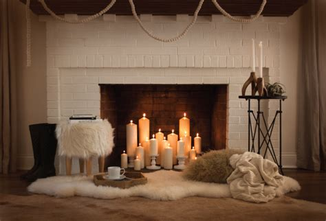candles in fireplace fireplace diy room for tuesday