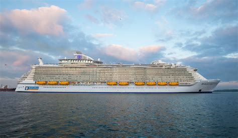 tv lift royal caribbean 39 s of the seas pre inaugural sailing