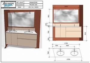 meuble double vasque encastre entre 2 murs en biais With meuble salle de bain sur mesure prix