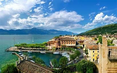 Garda Italy Lake Landscape Desktop Backgrounds Wallpapers