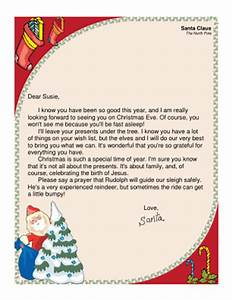 religious letter from santa With religious christmas letters