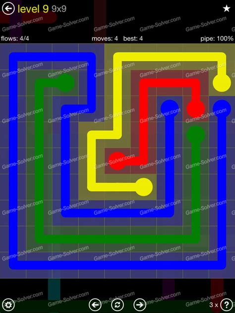Flow Extreme Pack 2 9×9 Level 9  Game Solver
