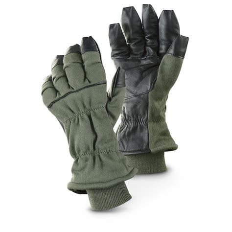 military surplus cold weather flyer gloves