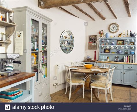 A Country Kitchen In A Traditional English Cottage Home