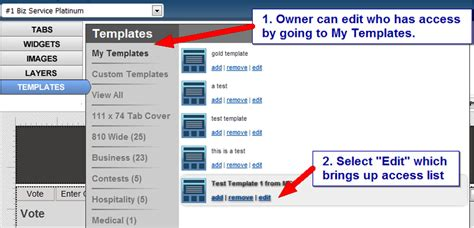 Cant Assing Template by Tabsite Enterprise Users Can Create And Assign Templates