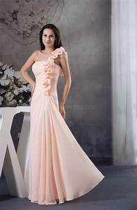 Light pink elegant a line zip up chiffon ruching wedding for Light pink dress for wedding guest
