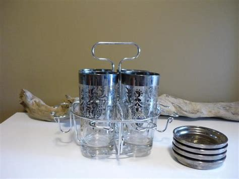 Vintage Kimiko Guardianware Silver Ombre Barware Highball