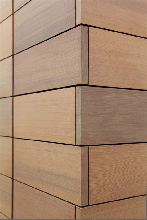 Wood Cladding by Design Is In The Details Modern Wood Cladding Details
