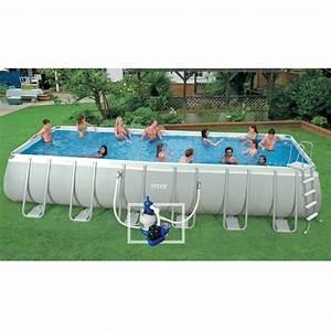 Piscine Tubulaire Intex : intex kit piscine tubulaire 7 32x3 66m ultrasilver achat ~ Nature-et-papiers.com Idées de Décoration