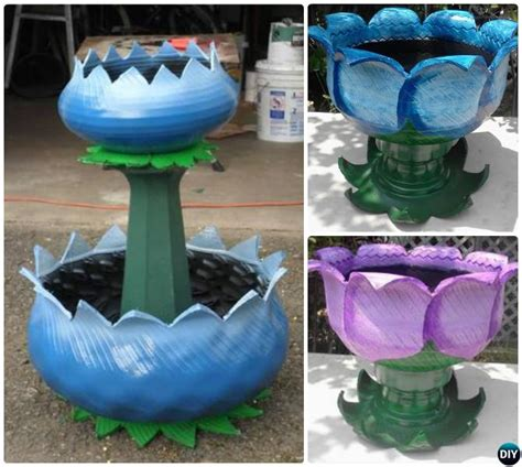 tire planters for diy recycled tire planter ideas for your garden