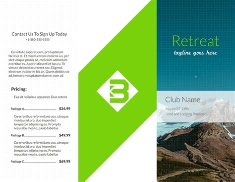 pamphlet templates examples lucidpress