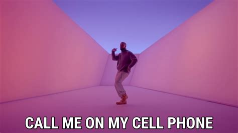 call me on my cell phone hello you used to call me on my cell phone imgflip hotline bling lyrics song in images
