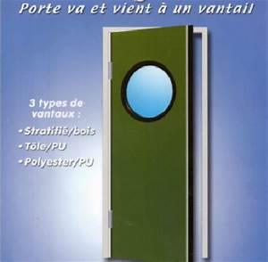 Un Va Et Vient : porte va et vient a un vantail ~ Dailycaller-alerts.com Idées de Décoration