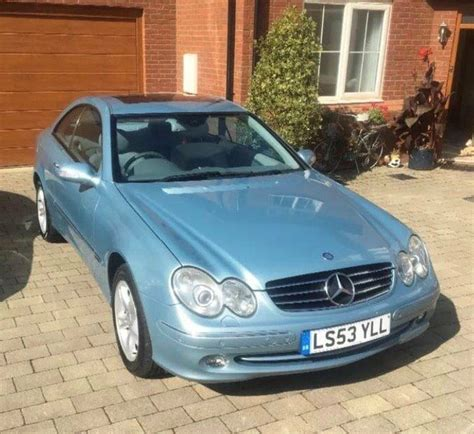 mercedes clk 320 avantgarde auto light blue metallic paint and light blue interior
