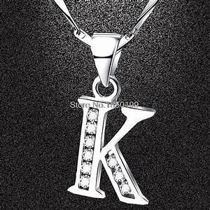 wholesale personalized charm pendant necklace for women With letter k pendant charm