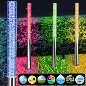 Lumiere Jardin Solaire : 4 x lampe solaire led color e lumi re jardin ext rieur ~ Premium-room.com Idées de Décoration