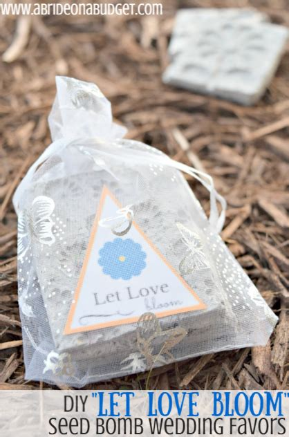 Diy Let Love Bloom Seed Bomb Wedding Favors A Bride On