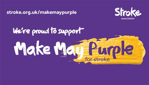 purple action stroke month national awareness days