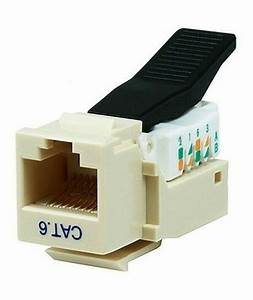 Cat6 Rj45 8p8c Tool Less Keystone Jack For Solid Ethernet Network Cables Beige