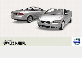 volvo  convertible owners manual   pages