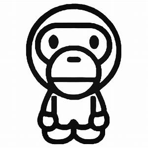Bape Baby Milo Full Decal Sticker