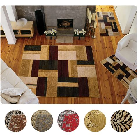 piece set modern  traditional area rugs scatter throw