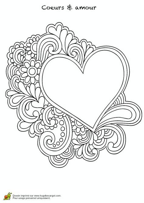 heart  printable adult coloring pages pinterest