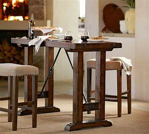 Benchwright Bar-Height Table Pottery Barn