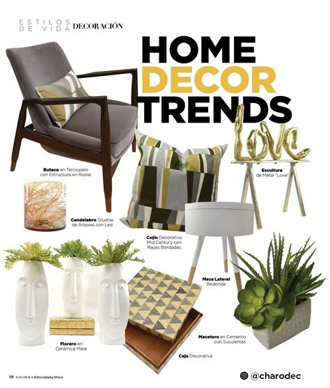 Home Decor Trends  Shine Magazine  Marzo 2018 Charo