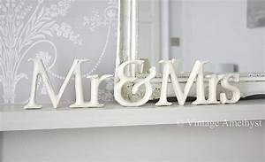 mr mrs signs and freestanding letters that spell love With mr and mrs freestanding letters
