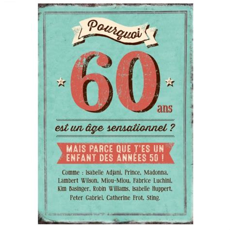 modele de carte d anniversaire 60 ans maxi carte quot pourquoi 60 ans est un 194 ge sensationnel