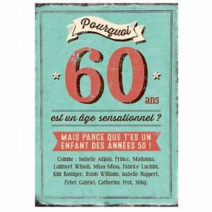 Faire Part Anniversaire 60 Ans : maxi carte pourquoi 60 ans est un ge sensationnel ~ Edinachiropracticcenter.com Idées de Décoration