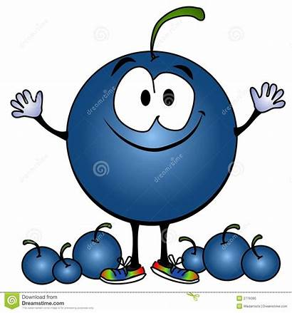 Blueberry Cartoon Clipart Face Smiling Blueberries Berries