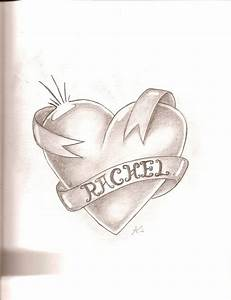 The gallery for --> Heart With Ribbon Drawings In Pencil