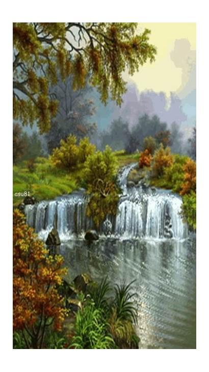 Wall Animated Waterfall Waterfalls Mobile9 Nature
