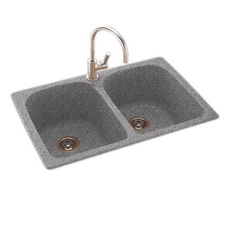 dual mount kitchen sink swan dual mount composite 33 in 1 basin 6981