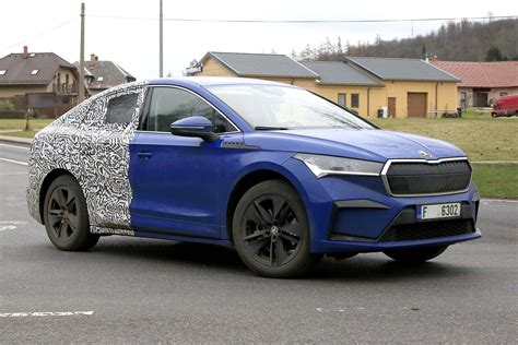 Skoda Enyaq iV coupe: new variant of electric SUV spotted ...
