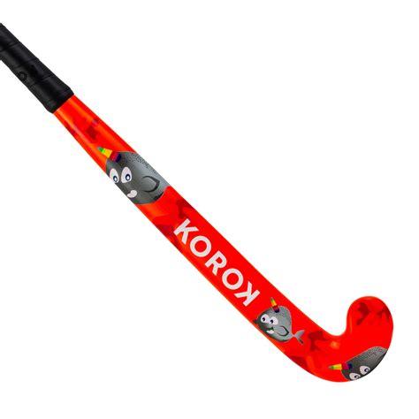 Kije do hokeja na trawie Kij do hokeja na trawie FH100 drewniany dla dzieci KOROK   Decathlon