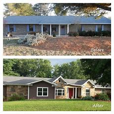 Remodeled Ranch Homes Before And After  Before And After