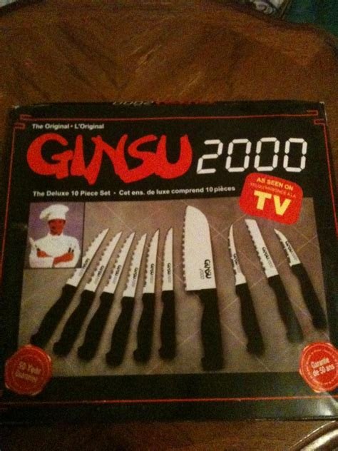 tv seen ginsu 2000 knife piece knives 2000s deluxe kitchen steak