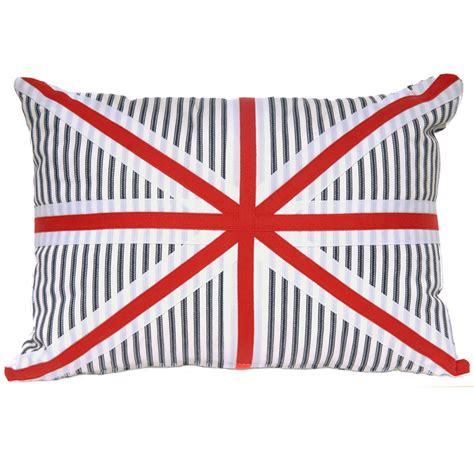 Union Cusions by White And Blue Union Cushion