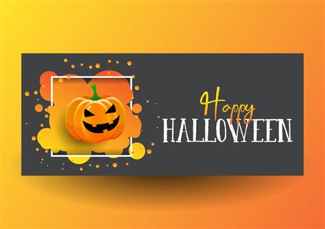 Free halloween banner vector download in ai, svg, eps and cdr. Halloween banner design with cute pumpkin - Download Free ...